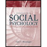 Experiences in Social Psychology - Active Learning Adventures (02) by Brannigan, Gary G [Paperback (2001)]