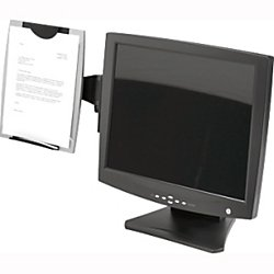 Holder Copy - Fellowes(R) Office Suites Monitor Mount Copyholder, Black/Silver
