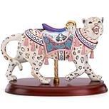 Snow Leopard Carousel Figurine by Lenox (Leopard Figurine Porcelain)