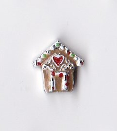 Gingerbread House Charm (Christmas Deluxe Gingerbread House Floating Charm)