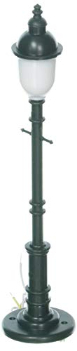O Old Time Lamp Post, Frosted/Round/Green (3) by Model Power