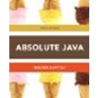 Absolute Java by Savitch, Walter, Mock, Kenrick. (Addison-Wesley,2012) [Paperback] 5th Edition