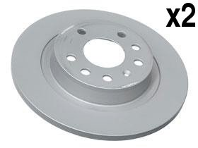 Saab 9-3 Brake Disc Rear 278mm ATE coated (x2 rotors) friction discs