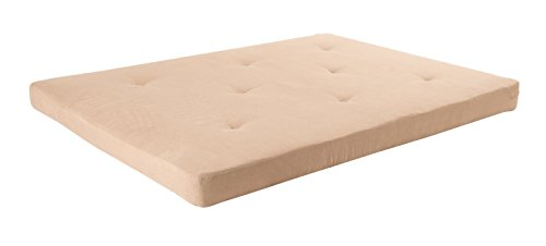 DHP 6-inch Microfiber Futon Mattress, Full Size - Tan by DHP