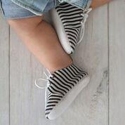 Chaussures Oxford En Cuir Véritable Piper Finn - Semelle Souple Bébé + Semelle Rigide Enfant En Bas Âge Nautique