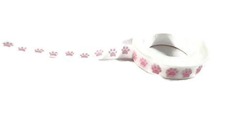 Pink Dog Paw Print Washi Craft Tape - 10meters Animals Scrapbooking Planner Tape