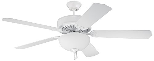 Craftmade Classic Ceiling Fan Light (Craftmade C201W Ceiling Fan with Blades Sold Separately, 52