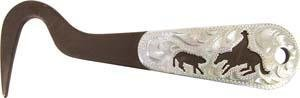 Abetta Engraved Silver Overlay 6'' Hoof Pick by Abetta