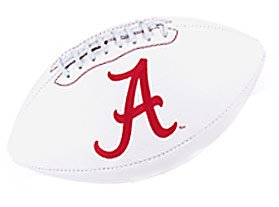 Alabama Crimson Tide UA NCAA Full Size Embroidered Football Alabama Crimson Tide Embroidered Golf Ball