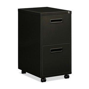 Mobile Desk Pedestal, File/File, Black