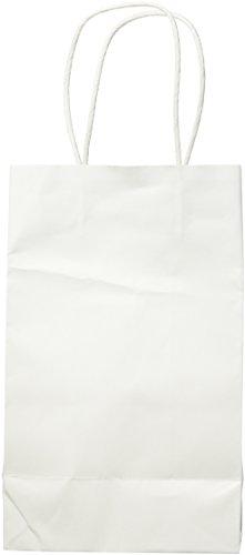 Amscan Party Friendly Plain Small Kraft Bag, White, Paper, 8