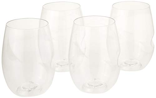 (Govino Wine Glass Flexible Shatterproof Recyclable, Set of 4)