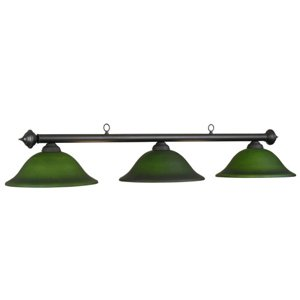 60 Inch 3 Bulb Marseilles Ceiling Lamp in Green