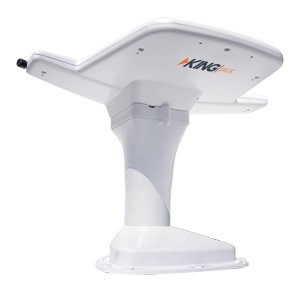 KING OA8200 Jack HDTV Over-the-Air Antenna with Mount and Built-in Signal Meter - White (Discontinued by Manufacturer)