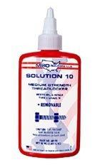 MRO Solution 10 Medium Strength Blue Anaerobic Liquid State Threadlocker in Bottle, 50ml Capacity