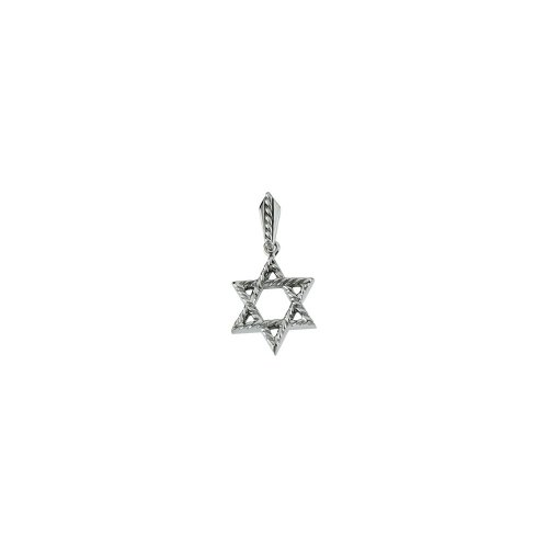 (Sterling Silver Star Of David Pendant)