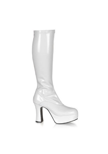 Funtasma by Pleaser Women's Exotica-2000 Boot,White Stretch Patent,9 M -