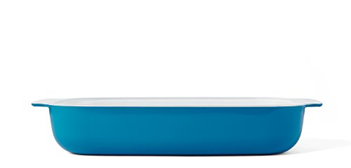 Creo SmartGlass Baking Dish, 3-Quart, Mediterranean Blue