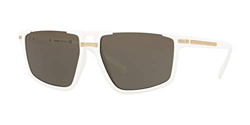 (Versace Women's VE4363 White/Gold/Brown One Size)