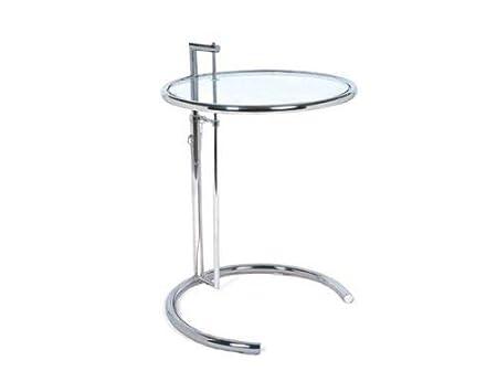 Eileen Gray Tavolino Prezzo.Tavolino Eileen Gray Regolabile Altezza 62 100cm Acciaio Cromato