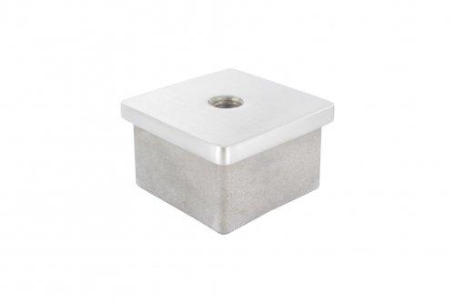 V2A Einsteckkappe mit M8 Innengewinde, für Vierkantrohr 40 x 40 x 2,0mm edelstahlonline24