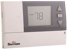Garrison A6211 Digital Thermostat, 1 Heat/1 Cool, 24 VAC & Battery Powered, 2.6'', 3.7'' x 5.5'' x 1.2''