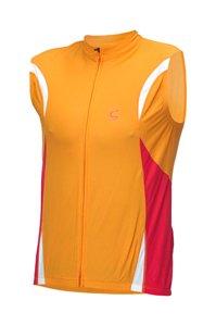 Cannondale Men's Climb Sleeveless Cycling Jersey (Orange, Small)