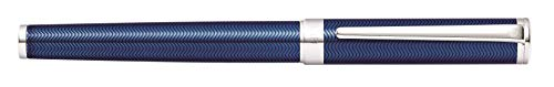 Sheaffer Intensity Engraved Translucent Blue Rollerball Pen with Chrome Cap and Trim by Sheaffer (Image #2)