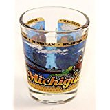 Michigan State Wraparound Shot Glass (Michigan Shot Glass)