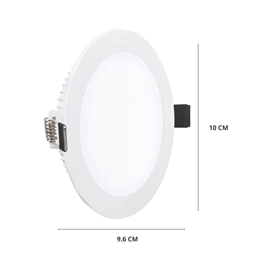Philips 10W Round AP Plus UltraGlow LED DL Recessed LED Panel Ceiling Light (Pack of 1,Warm White)