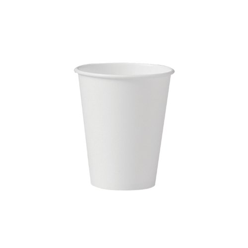 SOLO 378W-2050 Single-Sided Poly Paper Hot Cup, 8 oz. Capacity, White (Case of - Ounce Case 8