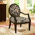 William's Home Furnishing 1979 Zebra Occasional Chair, Multicolor