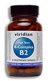 Viridian haute Deux Vitamine B2 avec B-Complex: 90 Veg Caps