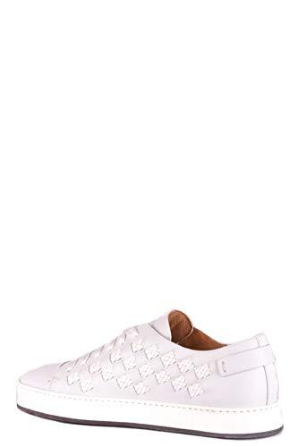 Mcbi34928 Uomo Santoni Bianco Sneakers Pelle Y7TwTB
