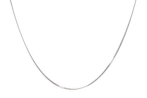 Flat Sterling Silver Chain Cable - NAGHC 925 Sterling Silver Chain 1mm Delicate Flat Cable Link Chain Necklace - Italian Necklace Chain - Super Shiny & Cheap Lovely Chain (16)