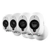 Swann Smart Security Camera 4 Pack : 4x 1080p Full HD Wireless Security Camera with True Detect PIR Heat/Motion Sensor, Night Vision & Audio (Cctv Camera Wholesale)