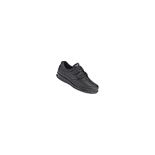 SAS Womens Me Too Leather Low Top Walking Shoes (11 W - Wide (C) US, Black)