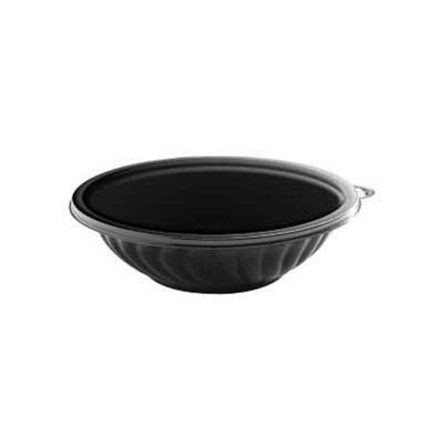 (EMI Yoshi Koyal PrepServe Shallow PET Bowls, 24-Ounce, Black, Set of 50)