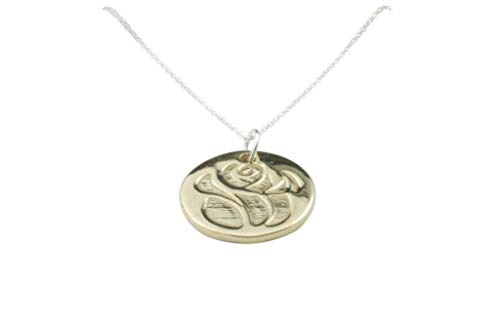 Anniversary Gifts Mothers Day or Valntines Rose Disc Necklace Gift Idea ()