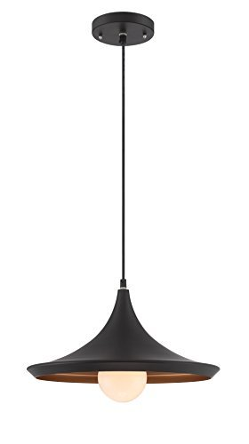Copper Hilite Pendant (Lite Source LS-19602BLK Landis Pendant, Black/Copper by Lite Source)