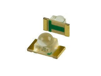 STANLEY HPG1105W-TR Green 1206 40° 30 mcd Water Clear 2.1 V Dome Lens LED Surface Mount - 2000 item(s)