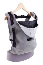 Je porte mon bebe - Je porte mon bebe - hoodiecarrier coton - gris flanelle Hc43