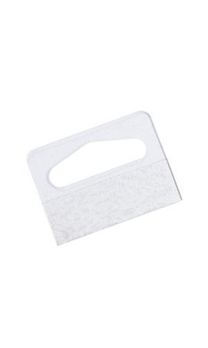 200 Ct Tab - Pack of 200 New Clear Plastic Slotted Hang Tab with Adhesive 1¼
