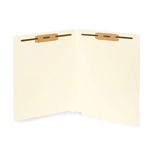 50 End Tab Fastener File Folders- Reinforced Straight Cut tab- Designed to Organize Standard Medical Files and Office documents- Letter Size, Manila, 50 Pack (End Tab File)