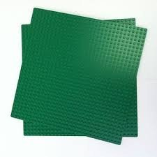 Lego Green Builder Base Plate 626  10  X 10   2 Units