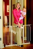 Regalo Easy Step Extra Wide Walk Thru Gate, 29-44 Inches Wide, White