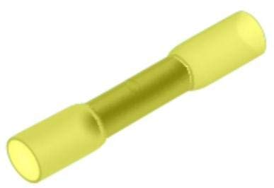 Papaparts 12-10 Gauge (Yellow) Heat Shrink Insulated Butt Connector Wire Terminal (Pack of 500)