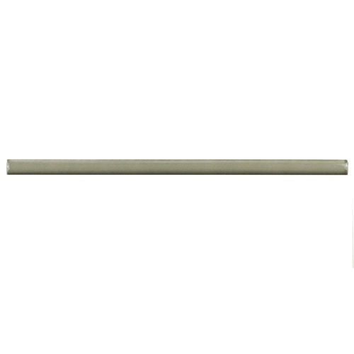 SomerTile WNU36CGB Penn Demi-Bullnose Ceramic Wall Trim Tile, 1/2