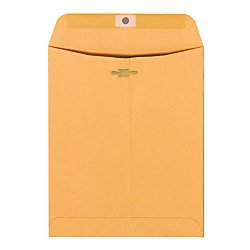 (Office Depot(R) Brand Clasp Envelopes, 9in. x 12in, Brown, Box Of 100)