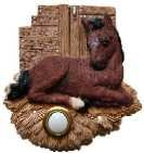 Brown Horse by Stable Decorative Doorbell Cover